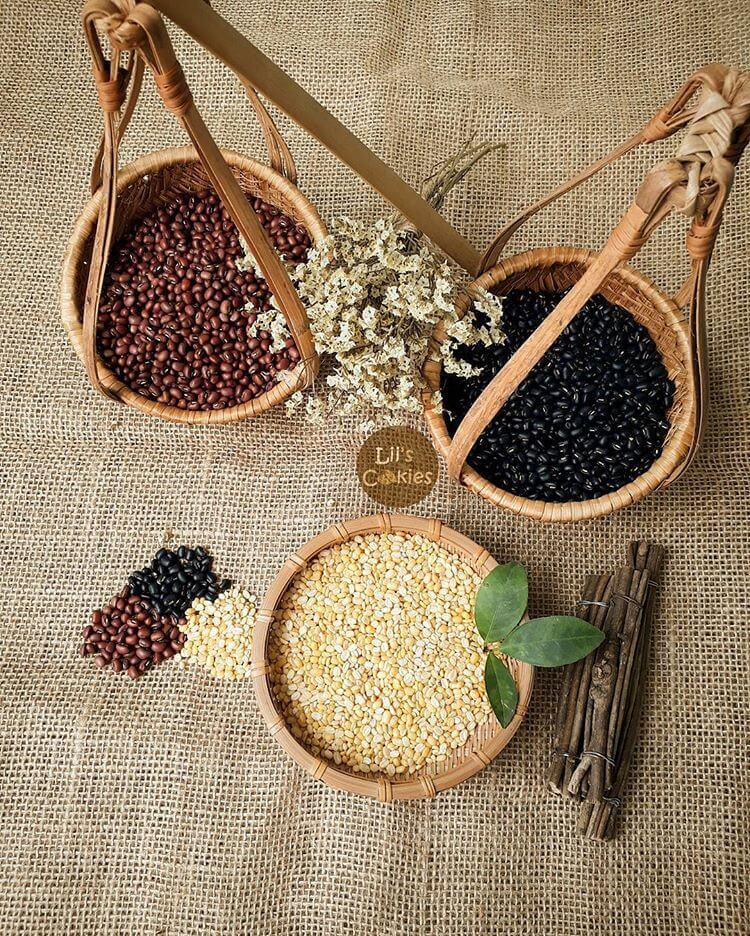 Các loại đậu làm trong bột ngũ cốc 4 loại đậu