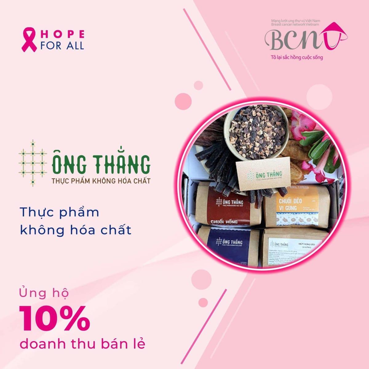 """Thực phẩm không hóa chất Phan Rang đồng bành cùng chiến dịch """"HOPE FOR ALL"""" DO BCNV tổ chức"""