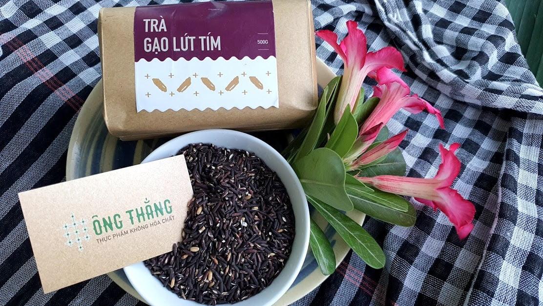 Trà gạo lứt tím Ông Thắng Phan Rang - Thực phẩm sạch cho sức khỏe người tiêu dùng